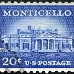 USA - CIRCA 1956: shows Monticello, the primary plantation of Thomas Jefferson, the third President of the United States — Stock Photo #47085101