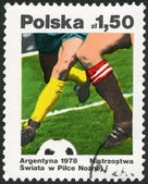 POLAND - 1978: shows Soccer, dedicated the 11th World Cup Soccer Championships, Argentina, June 1-25 — Stock Photo