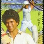 INDIA - 2013: shows Sachin Tendulkar, cricketer player, dedicated 200th Test Match — Stock Photo #47740201