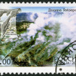 RUSSIA - 2002: shows Steaming geysers, series Kamchatka Peninsula Volcanos — Stock Photo