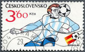 CZECHOSLOVAKIA - 1982: shows soccer player, 1982 FIFA World Cup, Spain — Stock Photo