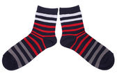 Pair of striped socks — Stock Photo