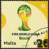 MALTA - CIRCA 2014: dedicated the 2014 FIFA World Cup Brazil, June 12 -  July 13 — Stock Photo