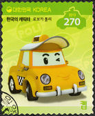 SOUTH KOREA - 2013: shows Cab, a taxi which is a showoff, series Brooms Town Rescue Team — Stock Photo