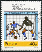 POLAND - 1966: shows final soccer game,  Italy - Czechoslovakia, 2-1, World Cup Soccer Championships, Rome, 1934 — Stock Photo