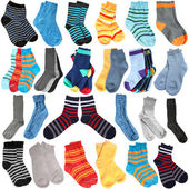 Selection of various socks — Stock Photo