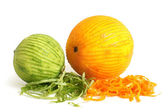 Lime and orange with rind — Stock Photo
