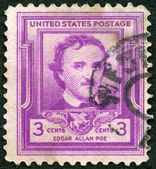 USA - 1949: shows Edgar Allan Poe (1809-1849), writer and poet — Stock Photo