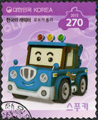 SOUTH KOREA - 2013: shows Spooki, a tow truck, series Brooms Town Rescue Team — Stock Photo