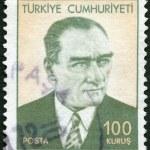 TURKEY - 1971: shows Mustafa Kemal Ataturk (1881-1938), the First President of Turkey — Stock Photo #50457733