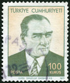 TURKEY - 1971: shows Mustafa Kemal Ataturk (1881-1938), the First President of Turkey — Stock Photo