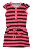 Small striped dress for girls — Stock Photo