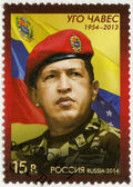 RUSSIA - 2014: shows Hugo Rafael Chavez (1954-2013), President of Venezuela — Стоковое фото