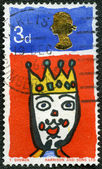 UNITED KINGDOM - 1966: shows King, series Christmas — Stock Photo