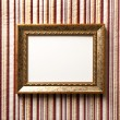Vintage frame on the wall — Stock Photo