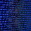 Blue binary code - Stock Photo