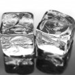 Two ice cubes — Stock Photo