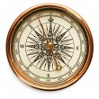 Vintage compass on white background — Stock Photo #12612987