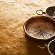 Stock Photo: Vintage compasses