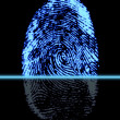Stock Photo: Finger-print