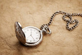 Old pocket watch on white background — Stock Photo