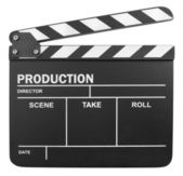 Cinema slate board — Stock Photo