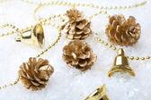 金色圣诞装饰 — 图库照片