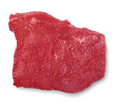 Piece of fresh meat on a white background — Stock Photo