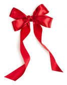 Red holiday ribbon — Stockfoto