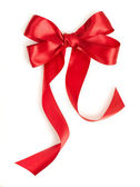 Red holiday ribbon — Stock Photo