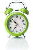зеленый будильник — Стоковое фото