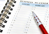Business planner — Stockfoto