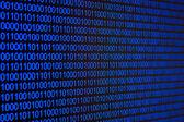 Blue binary code — Stock Photo
