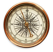 Vintage compass on white background — Stock Photo