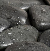 Flat stones background — Stock Photo