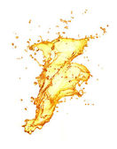 Golden water splash — 图库照片