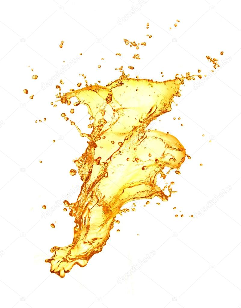 Golden water splash — Stock Photo #12616375