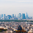View from Eiffel tower at Paris' business district Defense - Stock Photo