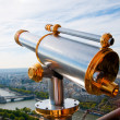 Eiffel Tower telescope overlooking for Paris. - Stock Photo