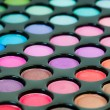 Multicolored eye shadows — Stock Photo