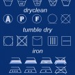Icon set of laundry symbols — Stock Photo