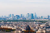 View from Eiffel tower at Paris' business district Defense — Stock Photo