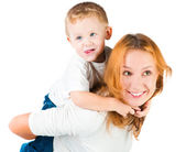 Woman and her son — Stock Photo