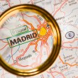 Madrid on a map — Stock Photo