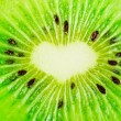 Close up of a healthy kiwi fruit — Stock Photo