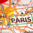 Paris on a map — Foto de Stock