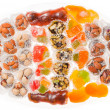 Turkish Delight - the famous sweet food - Stock Photo