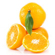 Tasty tangerines isolated on white — Stock Photo