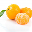 Stock Photo: Tasty tangerines isolated on white