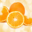Oranges isolated on white background — Stock Photo